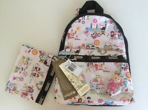 0120531f91c NWT Lesportsac Disney Small World Around The World Basic Backpack ...