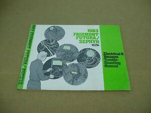1983 Ford Fairmont Futura Mercury Zephyr electrical wiring ...