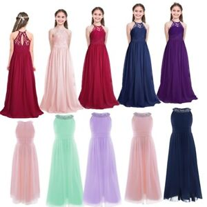 Flower-Girls-Princess-Dress-Pageant-Wedding-Party-Graduation-Formal-Chiffon-Gown