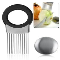 Onion Holder Slicer Vegetable tools Tomato Cutter Stainless Steel Kitchen Tool