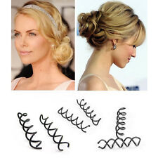 Ne Hair Styling 10PCS Spiral Spin Screw Bobby Pin Hair Clip Twist Barrette Black