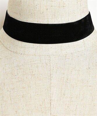 90's Black Velvet Choker Necklace Goth Gothic Handmade Retro Burlesque Jewelry