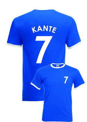 new style aeb9b b2598 N'Golo Kante Chelsea No.7 Mens Kids Football Fans T-Shirt | eBay