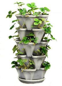 5 Tier Stackable Strawberry Herb Flower Vegetable Planter Vertical Garden  20 Pot