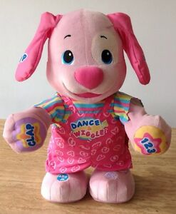 Fisher Price Laugh & Learn Dance Wiggle Pink Puppy Plush Talking Toy Dog 2011