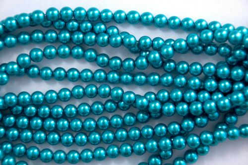 A 1 Strand Glass Pearls 3mm 4mm 6mm 8mm 22 Colors You Pick Quality!