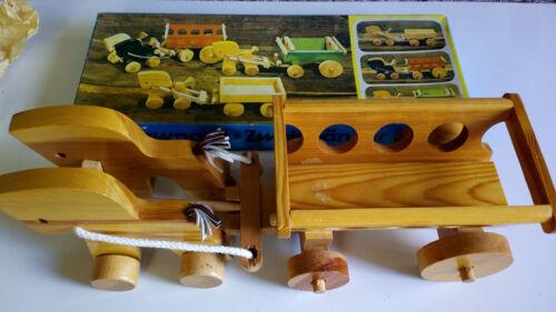 Fahrzeuge Vintage Großer Plaho Holz Leiterwagen mit Pferden für den Bauernhof Rarität# Neu
