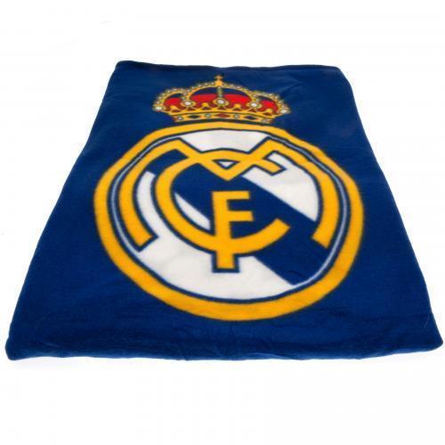 Real Madrid FC Official Crested Fade Fleece Blanket Throw La Liga Gift Present
