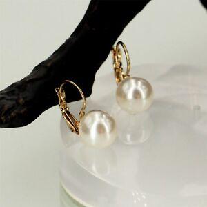 Boucles D Oreilles Dormeuse Perle Blanche Simple Original Mariage