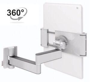 Tablet-Wandhalterung-A11-Klammer-Halterung-fuer-7-12-Zoll-Wanhalter-360-Weiss