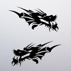 Tribal-Dragon-Sticker-Decal-Car-Window-Vinyl-Tattoo-Bike-Moped-Vespa-Chinese-JDM