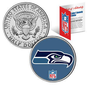 SEATTLE-SEAHAWKS-NFL-JFK-Kennedy-Half-Dollar-US-Coin-Officially-Licensed