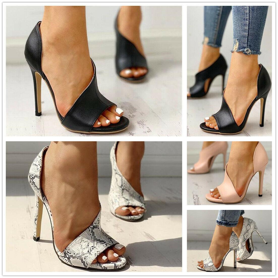 open toe high heel pumps