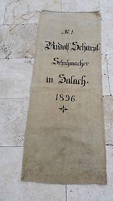 Antiquitäten & Kunst Alte Berufe Ehrlichkeit Mehlsack Leinensack Getreidesack 1896 Scharpf Salach Schuster Schuhmacher Einfach Zu Schmieren