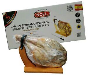 Noel-Jamon-Serrano-Ham-W-stand-amp-Knife-14-3-Lb