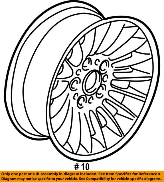 Buy Wheel Alloy Factory 1995 1996 1997 1998 1999 2000 2001 Bmw 750il