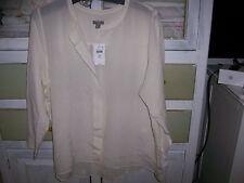 NWT$99 J.Jill 100% Silk  IVORY Tunic Style Blouse Shirt Petite XL relaxed 18/20
