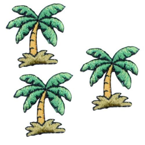 Tropical Palm Tree Applique Patch 3-Pack, Small, Iron on