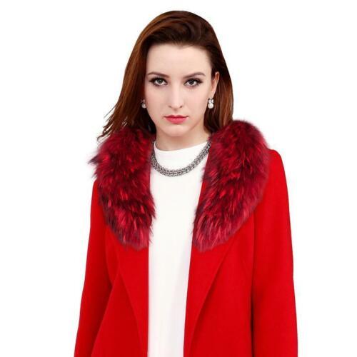 Frauen Natürliche Big Echt Pelzkragen Schal Wrap Damen New Schal Hals Warm