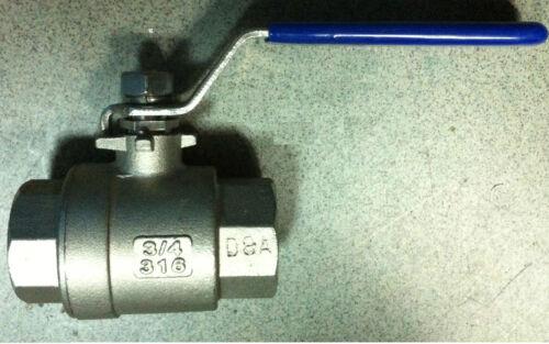 Valvola sfera rubinetto Acciaio Inox 316 F/F guarnizione teflon mis.1