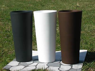 Pflanzkübel Blumenkübel Runder Hoch Blumentopf mit Einsatz Kunststoff Ø45 h100cm