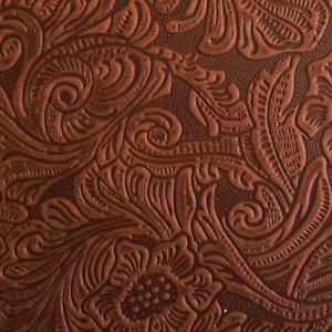 Floral Prägung Farbe Hellbraun Stärke ca geölt Büffelleder 3,6 mm