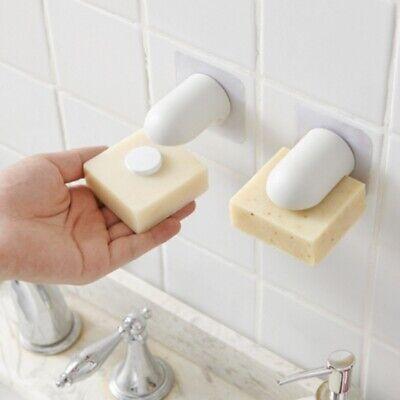 Home Magnetic Soap Holder Wall Stick Mount Storage Rack Bathroom Soap Organizer