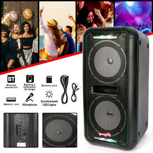 Portable-Party-Dual-6-5-034-Speaker-Bluetooth-Loud-Bass-Sound-Rechargeable-Remote
