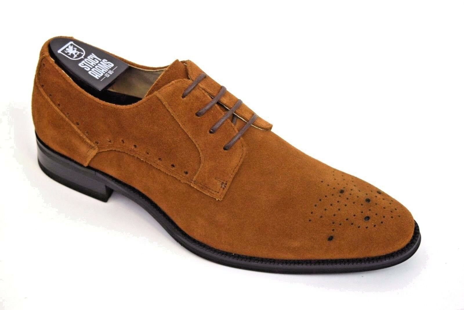 Men's Stacy Adams Dress Casual shoes Camel Suede Leather Oxford KENSINGTON 25002
