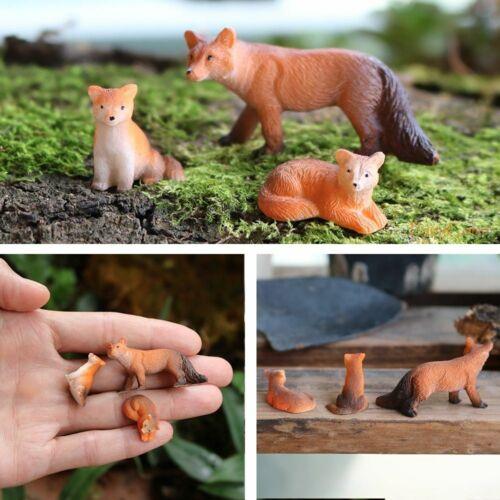 Mini Resin Miniature Animals Fairy Garden Animal Figurines Real Tiny Micro Farm