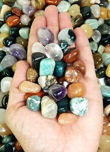 Tumbled-Crystals-Mix-1-2Lb-UNDYED-Small-Gemstones-Rocks-Stones-Crystal-Healing