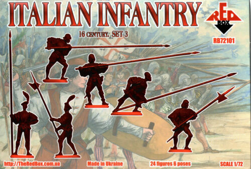 Red Box 1//72 72101 Italian Infantry Set.3 - Pike 24 Figures 16th Century