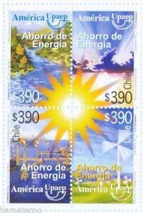 Chile-2006-2190-93-America-UPAEP-Ahorro-de-Energia-MNH