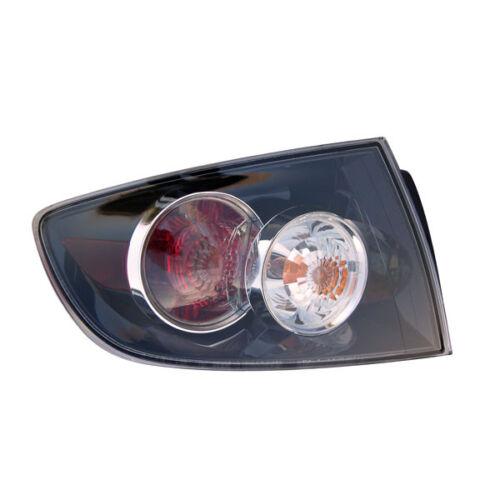 07-09 Mazda3 Sedan Taillight Taillamp Outer Brake Light Lamp Left Driver Side LH