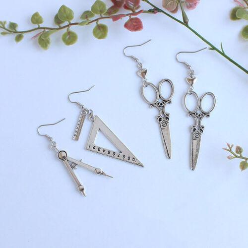Creative Funny Personalized Square Drop Earrings Scissors  Earrings Girl Jewelry