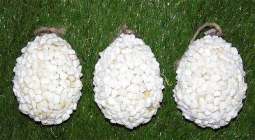 3`er Set Mega DEKO Eier im Steindesign Natur Anhänger 11x8 cm  Preishit x 2461
