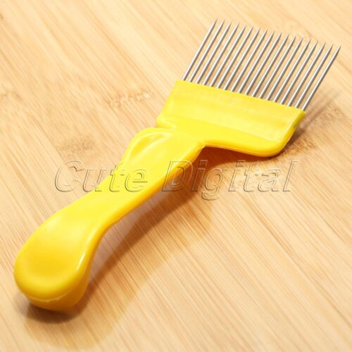Stainless Steel Needle Tine Honey Comb Scratcher Uncapping Fork Beekeeping Tool