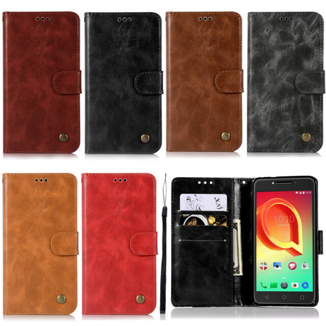 best service bd1c3 529f7 Retro Stand Wallet Leather Flip Case Cover For Alcatel Pop 4 Plus Idol 4  Pixi 4