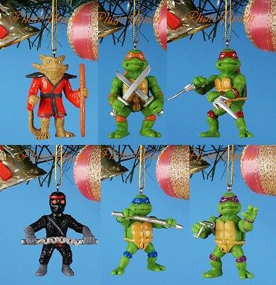 Decoration Xmas Ornament Home Party Decor Teenage Mutant Ninja Turtles Set 6 Toy