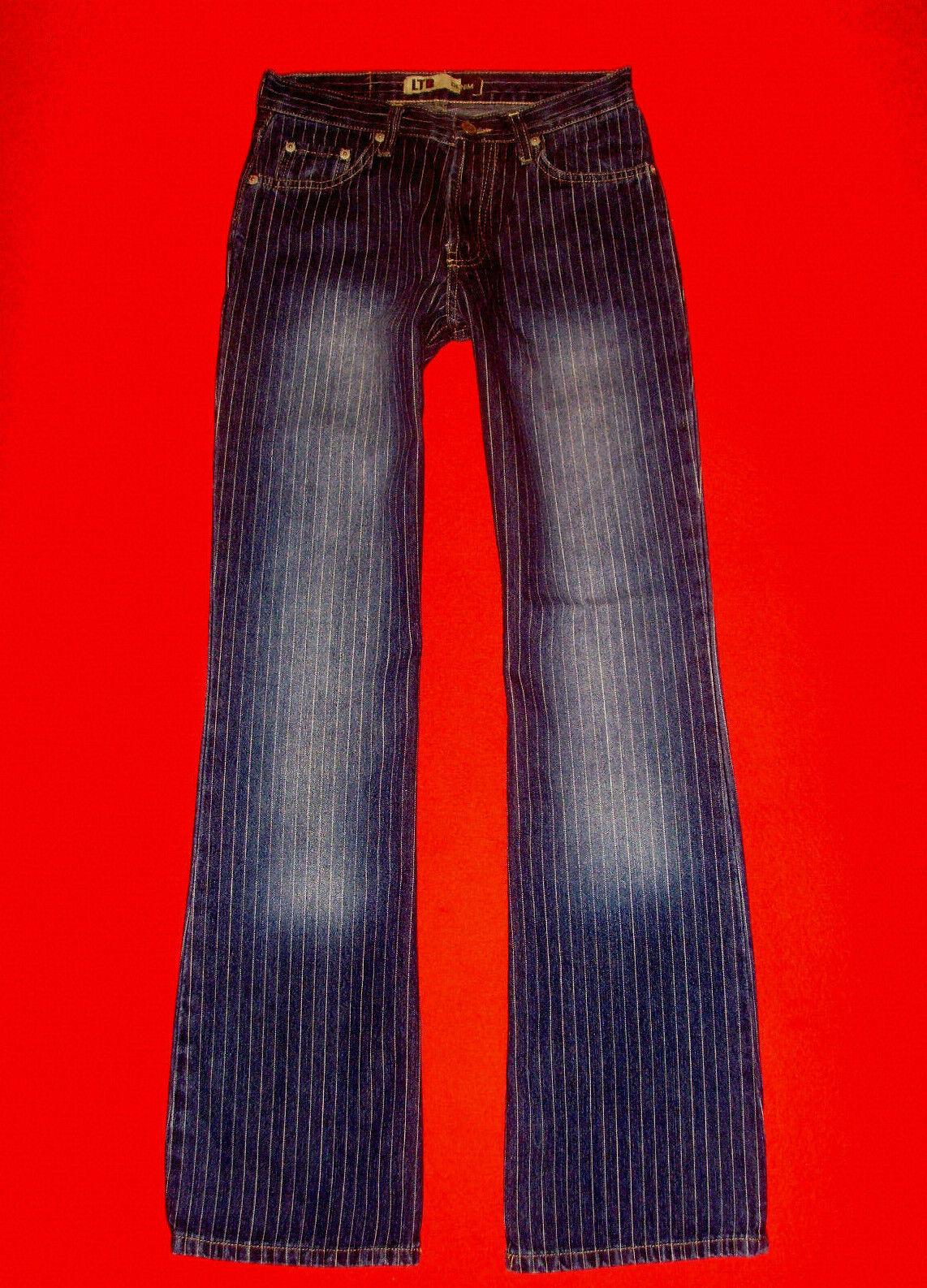 LTB Jeans Flared HIGH WAIST blu DENIM gessato gessato gessato w28 l32 NUOVA    TOP    b7872d