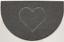 Medio círculo nicoman en relieve Medialuna puerta estera suciedad-Trampero Jet-Lavable Felpudo