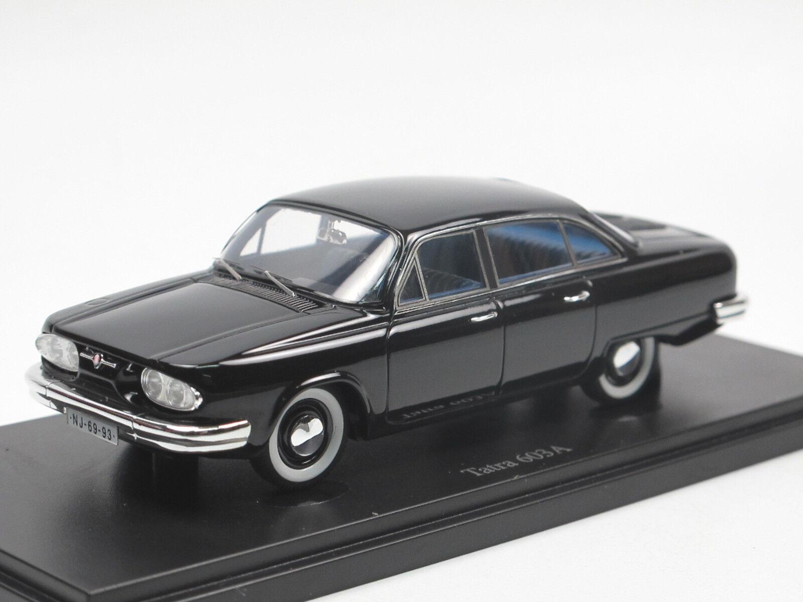 Autocult 06023 tatra 603 - limousine prototyp 1961 cz - schwarz - 1   43