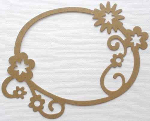 "3 1//2/"" x  5 1//8/"" Picture Frames Chipboard Die Cuts {6} ORNATE FLORAL FRAME"
