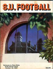 S.U. Football Syracuse vs. Penn State October 19, 1985 Program VGEX 010516jhe2