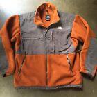 Men's The North Face TNF Burnt Orange Gray Denali Fleece Full Zip Jacket Sz L