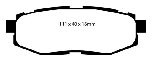 EBC Greenstuff Sportbremsbeläge Hinterachse DP21758 für Subaru BRZ