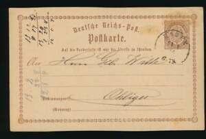 D.Reich Ganzsache P 1 mit K1 HASPE 11 1 74 n. OHLIGS (56745)
