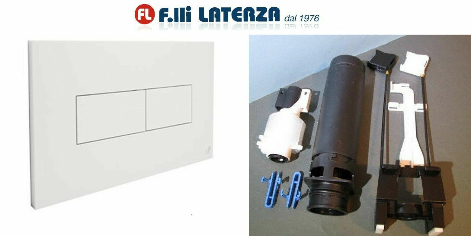 PLACCA IDEA ITS TODINI ART.20.15 BIANCA CON KIT DI TRASFORMAZIONE HIDROBOX LINE