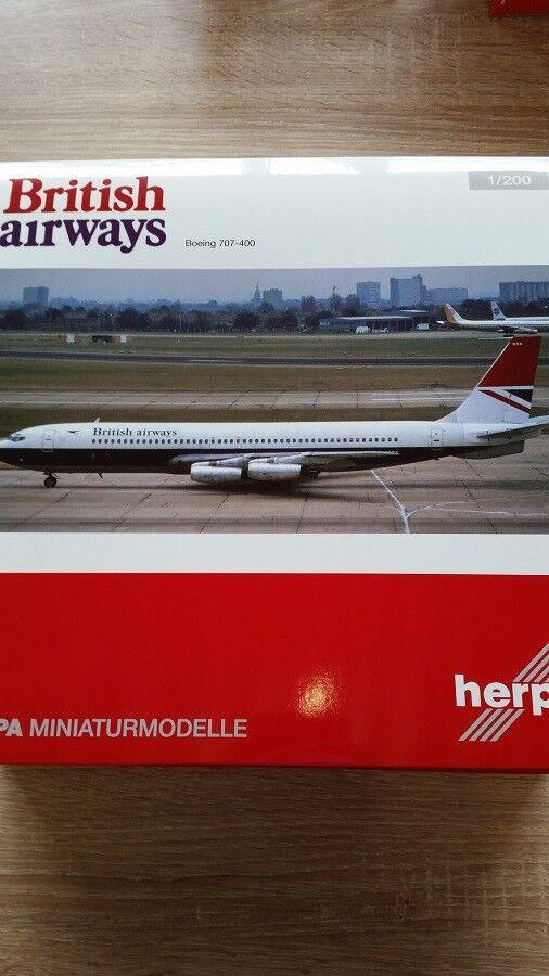 Herpa 558464 - 1   200 boeing 707-400 - british airways - neu