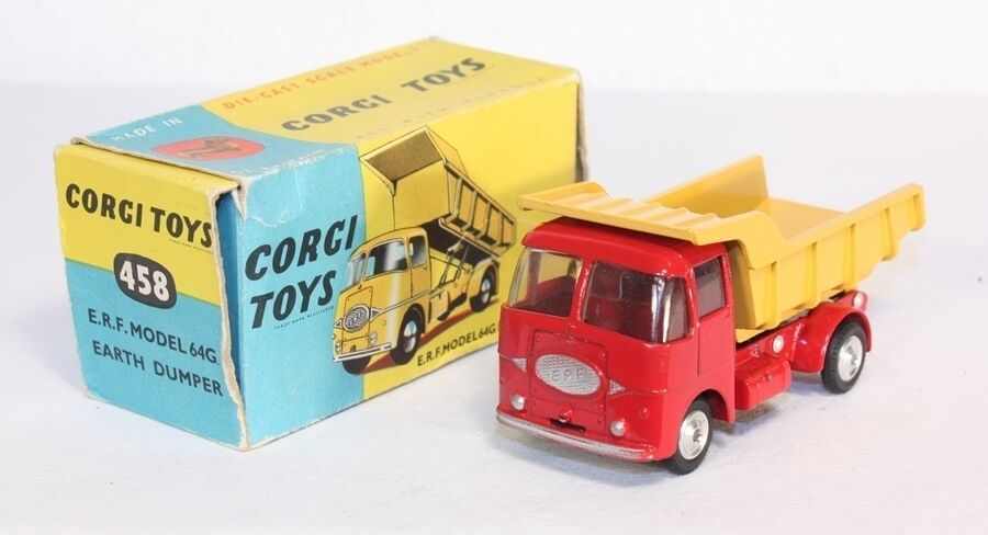 Corgi Toys 458 ERF Model 64G Earth Dumper, Mint in Box  ab1448